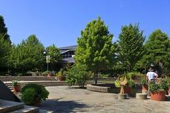 Het noorden Carolina Arboretum in Asheville in de Zomer royalty-vrije stock afbeeldingen