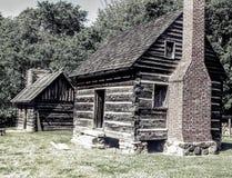 1800 het Noorden Carolina Cabins stock fotografie
