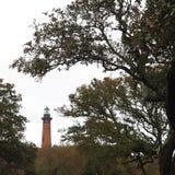 Het noorden Carolina Lighthouse bij Eend royalty-vrije stock afbeelding