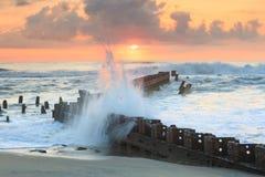Het noorden Carolina Ocean Sunrise stock foto