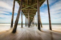 Het noorden Carolina Outer Banks Beach Seascape zeurt Hoofdobx NC royalty-vrije stock afbeelding