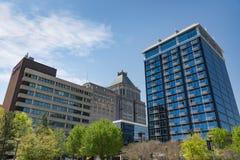 Het Noorden Carolina Skyline van Greensboro stock fotografie