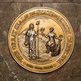 Het noorden Carolina State Seal Stock Fotografie