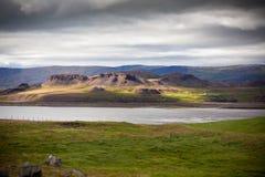 Het noorden Ijslands Landschap Stock Afbeeldingen