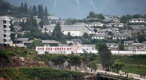 Het noorden Koreaans platteland Stock Foto's