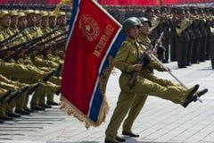 Het noorden Koreaanse militairen Stock Foto's