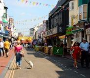 Het Noorden Laines Brighton op een zonnige dag royalty-vrije stock fotografie