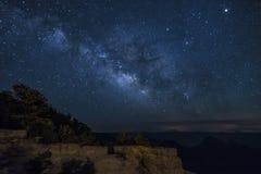 Het noorden Rim Grand Canyon Milky Way stock afbeelding