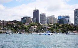 Het noorden Sydney Harbour View royalty-vrije stock foto