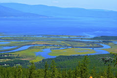 Het noorden van de vallei van de rivier Stock Foto's