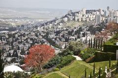 De tuinen van Bahai, Haifa, Israël Stock Fotografie