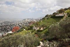 De tuinen van Bahai, Haifa, Israël Royalty-vrije Stock Afbeeldingen