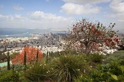 De tuinen van Bahai, Haifa, Israël Stock Foto's