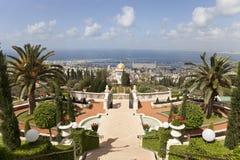 De tuinen van Bahai, Haifa, Israël Stock Foto