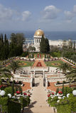 De tuinen van Bahai, Haifa, Israël Stock Afbeeldingen