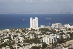 Panorama Haifa, Israël. Stock Foto