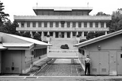 Het Noorden van JSA DMZ en de grens van Zuid-Korea Stock Foto's