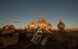 Het noorden van Rusland. Stock Afbeeldingen