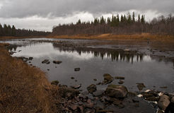 Het noorden van Russia.Rivers. stock afbeelding
