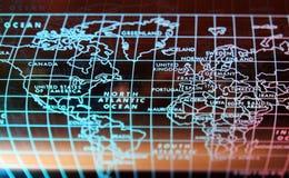 Het noorden - wereldkaart stock afbeelding