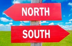 Het noorden of zuiden stock afbeeldingen