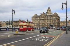 Het noordenbrug in Edinburgh stock foto