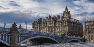 Het noordenbrug, Oude Stad, Edinburgh, Schotland Royalty-vrije Stock Afbeeldingen