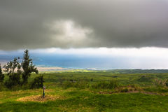 Het noordenkust van Groot Eiland in een bewolkte dag, Hawaï Royalty-vrije Stock Foto