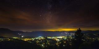 Het noordenmeer Tahoe bij nacht royalty-vrije stock foto's