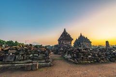 Het noordenplaosan tempel met duidelijke blauwe hemel in de ochtend royalty-vrije stock foto