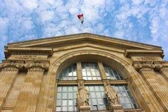 Het Noordenpost van Parijs, Gare du Nord in Parijs royalty-vrije stock afbeelding