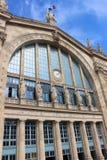 Het Noordenpost van Parijs, Gare du Nord in Parijs stock afbeeldingen
