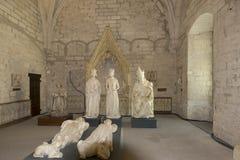 Het noordensacristie, Palais des Papes, Avignon, Frankrijk royalty-vrije stock foto's