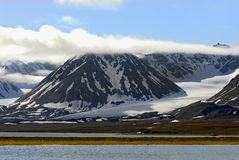 Het noordpool Landschap van de Toendra in Spitzb Royalty-vrije Stock Afbeelding
