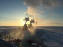 Het noordpoolgebied, stock afbeelding