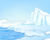 Het Noordpoolgebied van het Landschap van de Aard van het beeldverhaal Royalty-vrije Stock Foto
