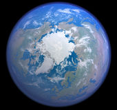 Het noordpoolgebied van ruimte Royalty-vrije Stock Afbeeldingen