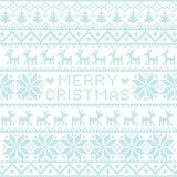 Het noordse patroon van Kerstmis Royalty-vrije Stock Afbeelding