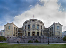 Het Noorse Parlement Royalty-vrije Stock Foto's