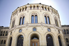 Het Noorse Parlement in Oslo royalty-vrije stock foto