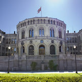 Het Noorse Parlement in Oslo Stock Foto