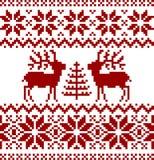 Het Noorse patroon van Kerstmis Royalty-vrije Stock Afbeelding