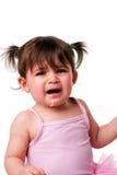 Het norse droevige schreeuwende gezicht van de babypeuter Royalty-vrije Stock Fotografie