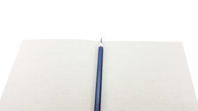 Het notaboek met Potlood en de ruimte voor schrijven Stock Foto