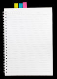Het notaboek wordt geïsoleerd dat voor schrijft Royalty-vrije Stock Fotografie