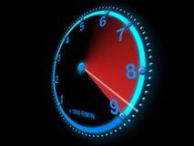 Het noteren van de snelheidsmeter hoge snelheid Stock Foto's