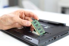 Het notitieboekje of laptop van RAM Memory verbetering royalty-vrije stock afbeelding