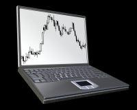 Het notitieboekje van de computer Stock Afbeeldingen
