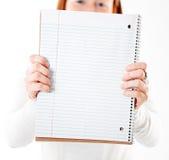 Het notitieboekje van de holding Royalty-vrije Stock Afbeelding