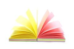 Het notitieboekje van de kleur Stock Foto's